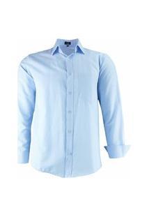Camisa Social Lbl Modelagem Clássica Tecido Misto 3006 Azul Bebê