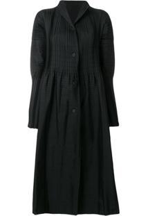 Issey Miyake Vestido Oversized - Preto