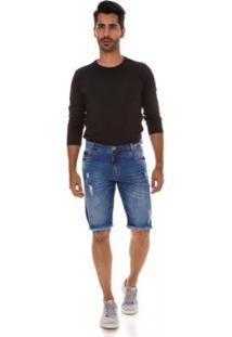 Bermuda Jeans Express Fred Masculina - Masculino-Azul