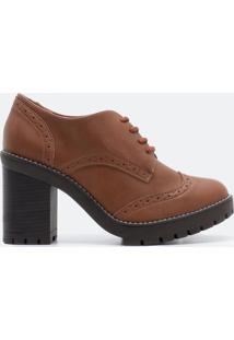 Sapato Feminino Oxford Solado Tratorado Via Marte