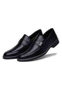 Sapato Social Preto Conforto Solado Bicolor 45031