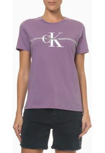 Camiseta Mc Ckj Fem Re Issue Faixa - Roxo - P