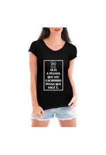 Camiseta Criativa Urbana Seja A Pessoa Preta