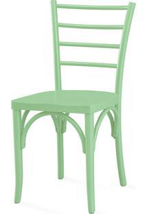Cadeira Para Sala De Jantar Charlotte Laca Verde Sálvia - 40,5X49X88 Cm