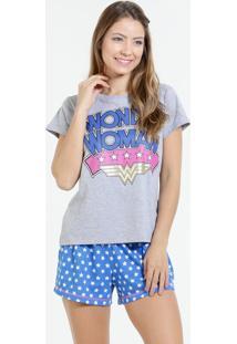 Pijama Feminino Mulher Maravilha Liga Da Justiça