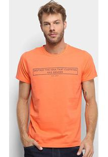 Camiseta Colcci Clothes Has Not Gender Masculina - Masculino-Laranja