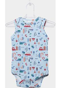 Body Infantil Up Baby Urbano Menino - Masculino-Azul