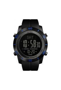 Relógio Skmei Digital -1354- Preto Com Detalhe Azul
