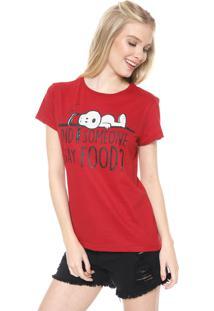 Camiseta Snoopy Food Vermelha