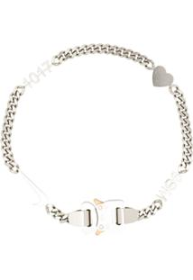 1017 Alyx 9Sm Hero Silver-Tone Charm Necklace - Branco