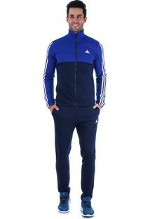 Agasalho Masculino Adidas Back2Bas 3S - Azul