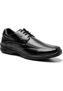 Sapato Social Frampasso Bico Quadrado Masculino - Masculino-Preto