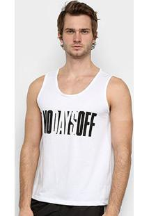 Regata Gonew No Days Off Masculina - Masculino-Branco