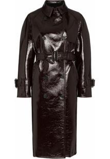 Joseph Trench Coat Encerado - Marrom