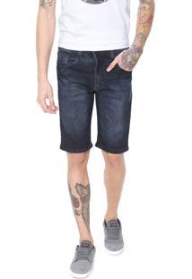 Bermuda Jeans Hd Slim Conf Azul-Marinho