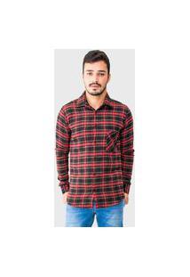 Camisa Masculina Flanela Manga Longa 33516