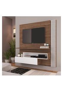 Painel Para Tv 65 Pol Estilare Est201 1 Porta Madeirado E Branco