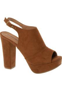Sandal Boot Caramelo Salto Alto