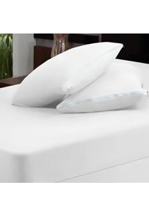 Capa Dourados Enxovais Para Colchão Branco Solteiro 02 Peças - Malha 100% Algodão
