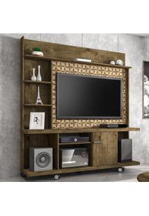 Estante Para Tv Até 47 Polegadas 1 Porta Taurus Madeira Rústica/Madeira 3D - Móveis Bechara