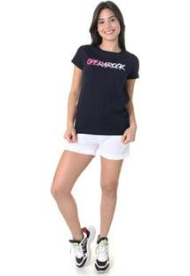 Camiseta Opera Rock T-Shirt Feminina - Feminino-Azul Escuro