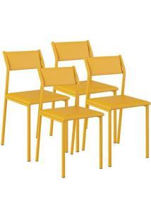 Cadeira 1709 Color Uv 04 Unidades Napa/Amarelo Ouro Carraro
