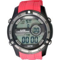 d2d1d07de2825 Centauro. Relógio Digital Speedo 81147G0 - Masculino - Vermelho/Preto