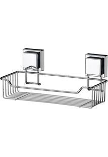 Porta Shampoo De Aço Inox Com Ventosa Future 28X13X12,5Cm - 26453