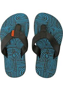 Chinelo Infantil Kenner Joy Summer Dry Masculino - Masculino-Azul+Preto