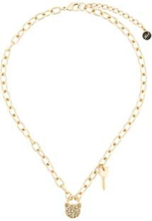 Karl Lagerfeld Choupette Necklace - Dourado