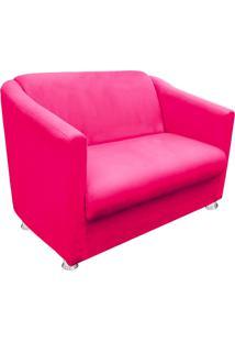 Namoradeira Decorativa Tilla 2 Lugares Suede Rosa Barbie - D'Rossi - Tricae
