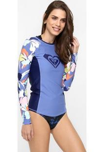 Camiseta Lycra Roxy Fashion Rashguard M/L - Feminino
