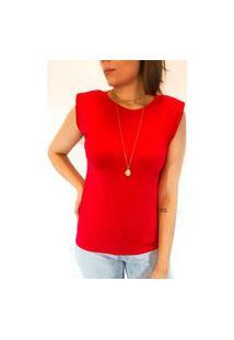 Camiseta Muscle Em Viscolycra - Vermelha