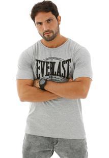 Camiseta Everlast Estampada Frente Cinza