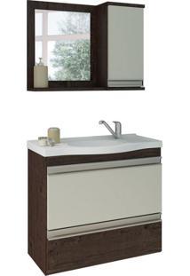 Conjunto De Banheiro Grécia Café E Off White