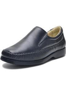 Sapato Confort Couro Urbano Masculino - Masculino