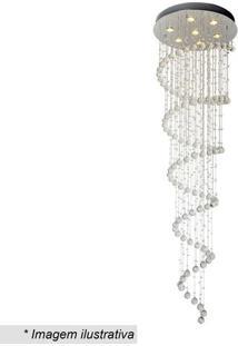 Plafon Spirale- Cristal & Inox- 200Xø60Cm- Bivolhevvy