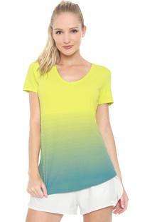 Camiseta Alto Giro Skin Degradê Neon Verde/Azul