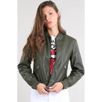 0252b027a CEA. Jaqueta Feminina Bomber Acolchoada Verde Militar. R$ 179 ...