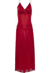 Vestido Kika Simonsen Alã§A Midi Vermelho - Vermelho - Feminino - Dafiti