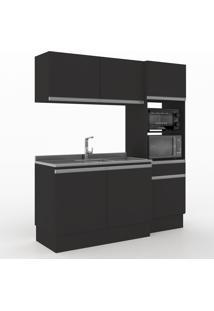 Cozinha Compacta Dion 6 Portas 1 Gaveta 600015 Preto - Vedere