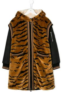 Dolce & Gabbana Kids Jaqueta 'Tiger' - Marrom