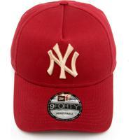 Boné New Era Snapback New York Yankees Vinho 690d1d07471