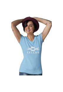 Camiseta Gola V Cellos Horns Premium Azul Claro