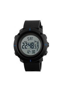 Relógio Skmei Digital -1215- Preto E Azul