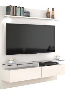 Painel Para Tv 60 Polegadas Vidratto Off White 182 Cm