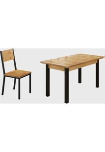 Conjunto 6 Cadeiras E Tampo Ripado Preto Fosco Madmelos - Bege - Dafiti