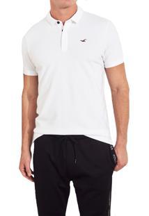 Camiseta Polo Hollister Clássica Branca 47db1bff3a2d6