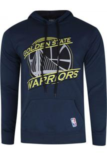 Casaco Moletom Nba Golden State Warriors Basic Azul