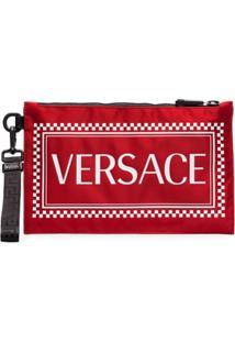 Versace Porta-Moedas Com Logo - Vermelho